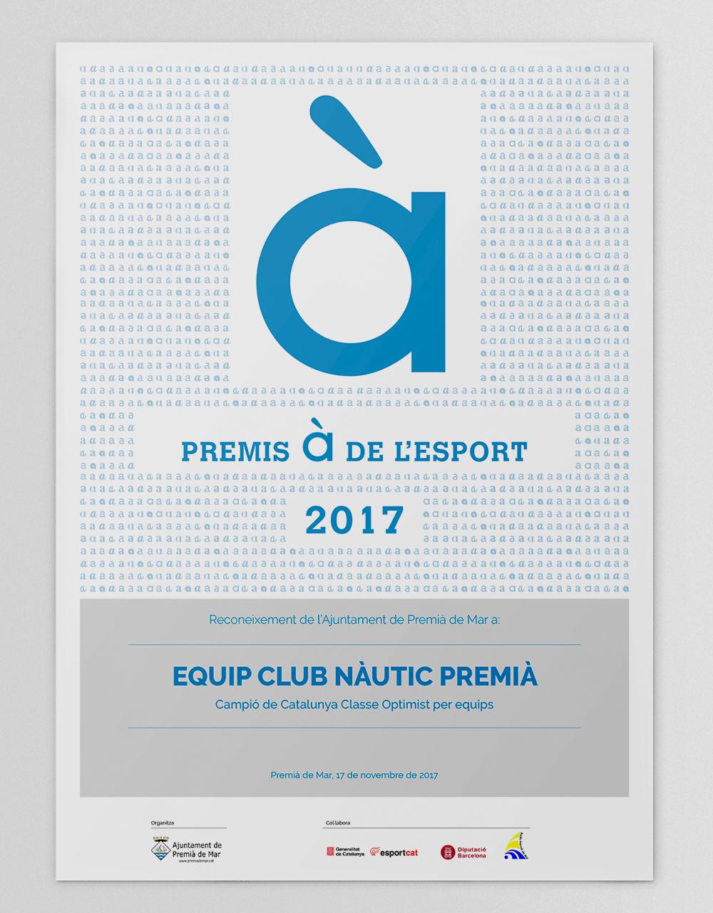 Diploma_PremisA_de_esport_Premia_de_Mar_2017