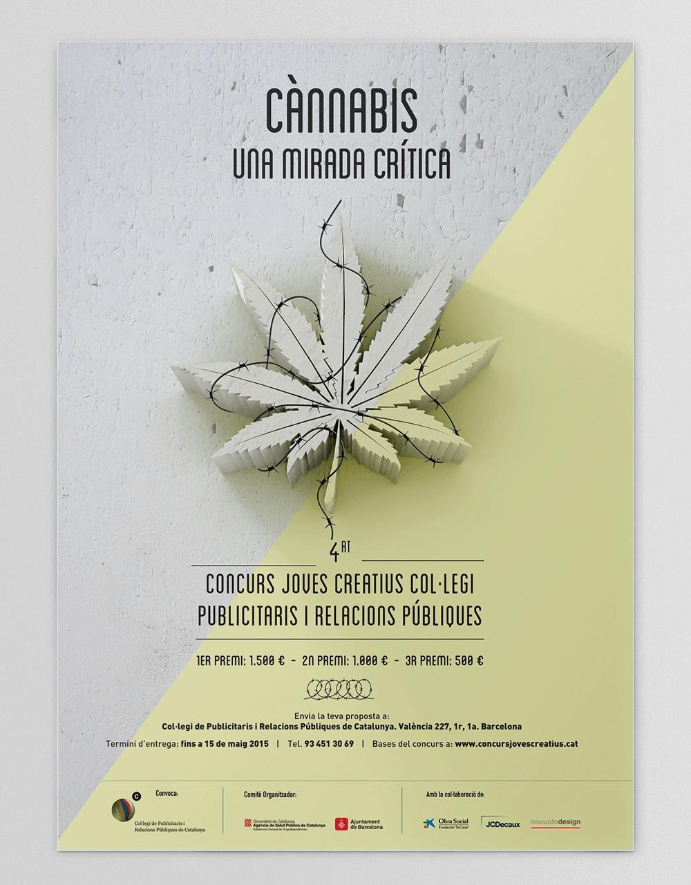 Posters_ConcursJovesCreatius_Publicistes_Cannabis_UnaMiradaCritica